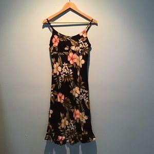Vintage 90's Tropical Floral Print Dress